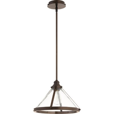 Dougan Banded Cone 1-Light Mini Pendant Finish: Oiled Bronze