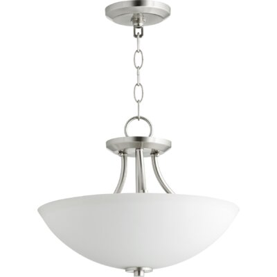 Brophy 3-Light Bowl Pendant Color: Satin Nickel