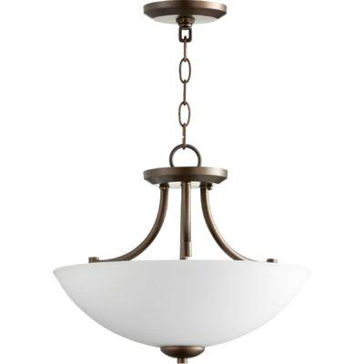 Brophy 3-Light Bowl Pendant Color: Oiled Bronze