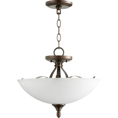 Brookview 3-Light Bowl Pendant Color: Oiled Bronze