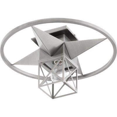 Douglaston Star Cage 1-Light Semi Flush Mount Fixture Finish: Satin Nickel