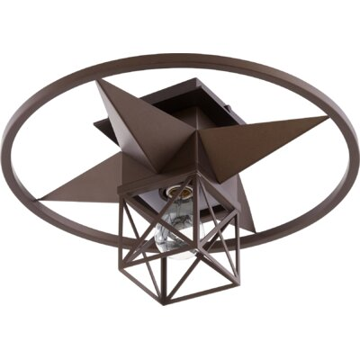 Douglaston Star Cage 1-Light Semi Flush Mount Fixture Finish: Oiled Bronze