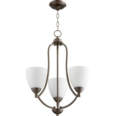 Brophy 3-Light Candle-Style Chandelier Color: Oiled Bronze