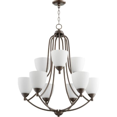 Brophy 9-Light Candle-Style Chandelier Color: Oiled Bronze