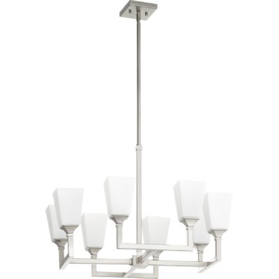 Moretti 8-Light Candle-Style Chandelier Finish: Satin Nickel