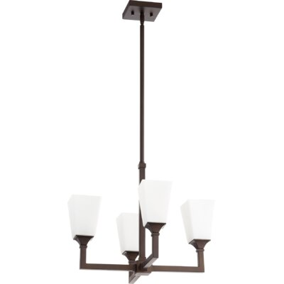 Moretti 4-Light Candle-Style Chandelier Finish: Oiled Bronze