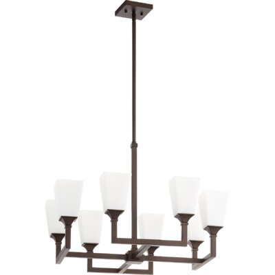Moretti 8-Light Candle-Style Chandelier Finish: Oiled Bronze