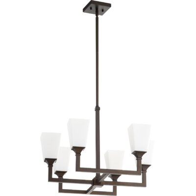 Moretti 6-Light Candle-Style Chandelier Finish: Oiled Bronze