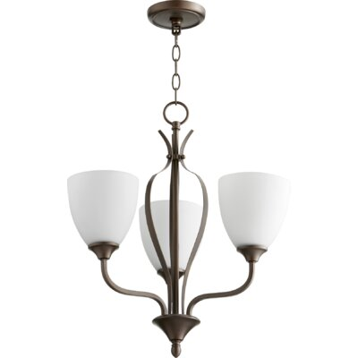 Brookview 3-Light Candle-Style Chandelier Color: Oiled Bronze