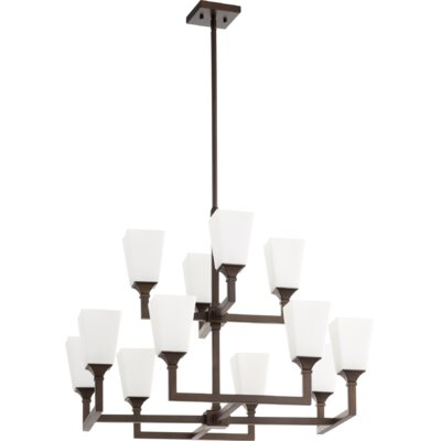 Moretti 12-Light Candle-Style Chandelier Finish: Oiled Bronze