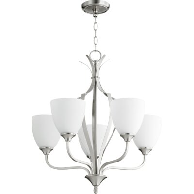 Brookview 5-Light Candle-Style Chandelier Color: Satin Nickel