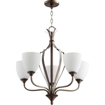 Brookview 5-Light Candle-Style Chandelier Color: Oiled Bronze