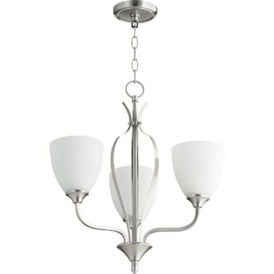 Brookview 3-Light Candle-Style Chandelier Color: Satin Nickel