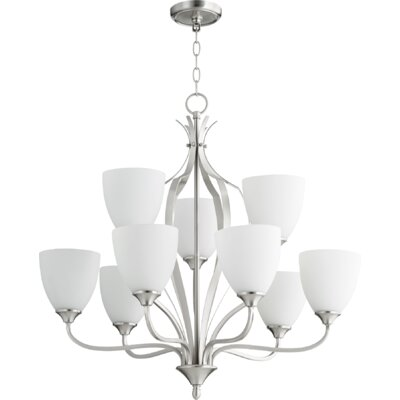 Brookview 9-Light Candle-Style Chandelier Color: Satin Nickel
