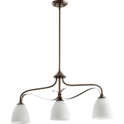 Brookview 3-Light Kitchen Island Pendant Color: Oiled Bronze