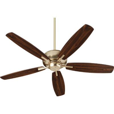 52 Lancaster 5 Blade Ceiling Fan Finish: Aged Brass