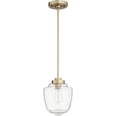 Dostie Acorn 1-Light Mini Pendant Finish: Aged Brass