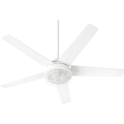 60 Polizzi 5 Blade Outdoor LED Ceiling Fan Finish: Studio White