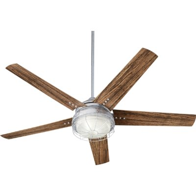 60 Polizzi 5 Blade Outdoor LED Ceiling Fan Finish: Galvanized