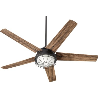 60 Polizzi 5 Blade Outdoor LED Ceiling Fan Finish: Noir