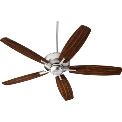 52 Lancaster 5 Blade Ceiling Fan Finish: Satin Nickel