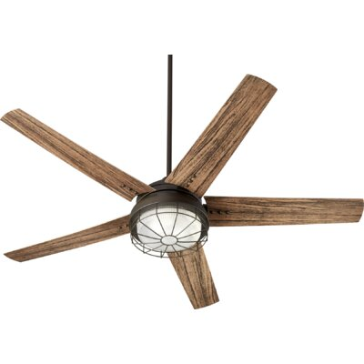 60 Polizzi 5 Blade Outdoor LED Ceiling Fan Finish: Oiled Bronze
