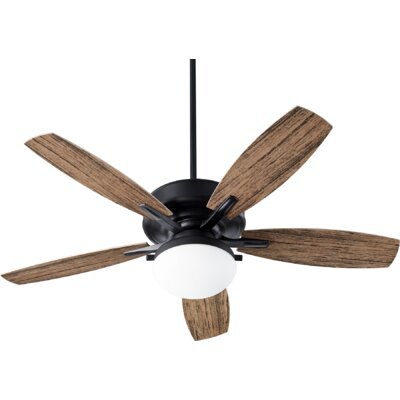 60 Pollman 5 Blade Outdoor LED Ceiling Fan Finish: Noir