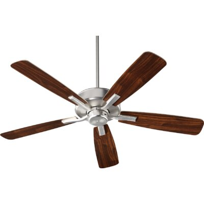 52 Lamphere 5 Blade Ceiling Fan Finish: Satin Nickel