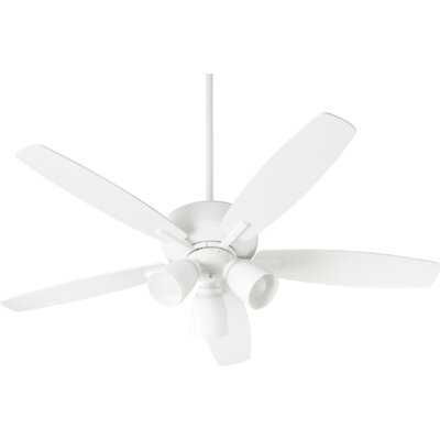 52 Lancaster 5 Blade Ceiling Fan Finish: Studio White