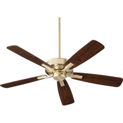 52 Lamphere 5 Blade Ceiling Fan Finish: Aged Brass