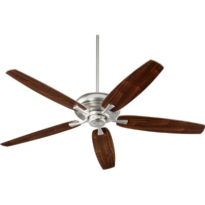 56 Falzone 5 Blade Ceiling Fan Finish: Satin Nickel