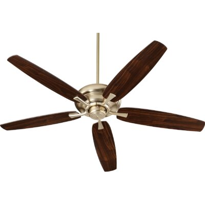 56 Falzone 5 Blade Ceiling Fan Finish: Aged Brass