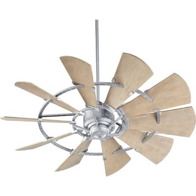 52 Mercado Damp 10 Blade Outdoor Ceiling Fan Finish: Galvanized