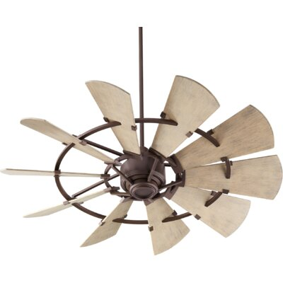 52 Mercado Damp 10 Blade Outdoor Ceiling Fan Finish: Oiled Bronze