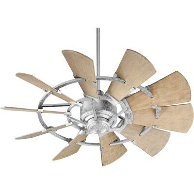 44 Mercado Damp 10 Blade Outdoor Ceiling Fan Finish: Galvanized