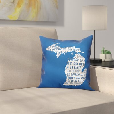 Michigan Go Team Square Throw Pillow