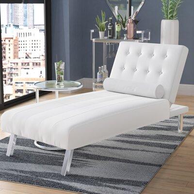 Verlene Chaise Lounge Upholstery: White