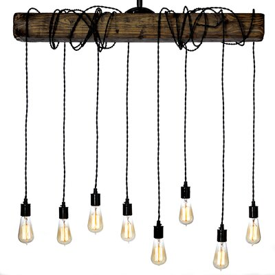 Varley 8-Light Kitchen Island Pendant with Wrapped Cord