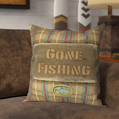 Kayser Gone Fishing Throw Pillow