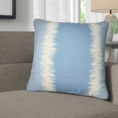 Kimora Geometric Linen Throw Pillow Color: Blue