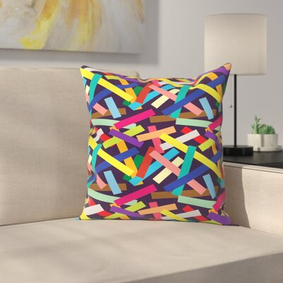 Joe Van Wetering Confetti Throw Pillow Size: 16 x 16