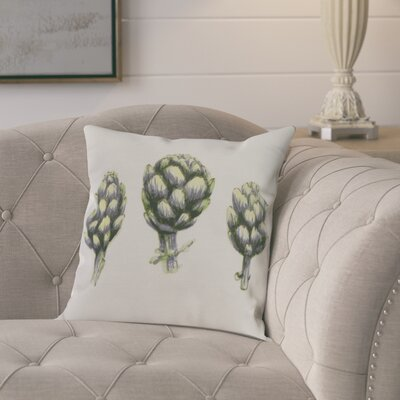 Kaylor Artichoke Indoor/Outdoor Throw Pillow Color: Green, Size: 16 x 16