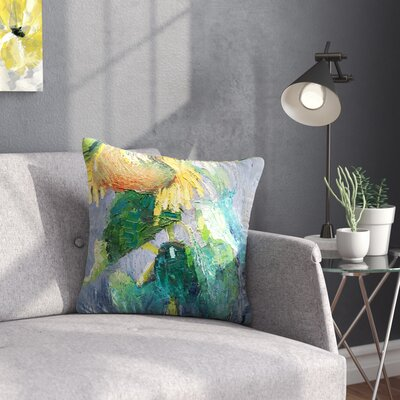 Carol Schiff Lonely Sunflower Nature Outdoor Throw Pillow Size: 16 H x 16 W x 5 D