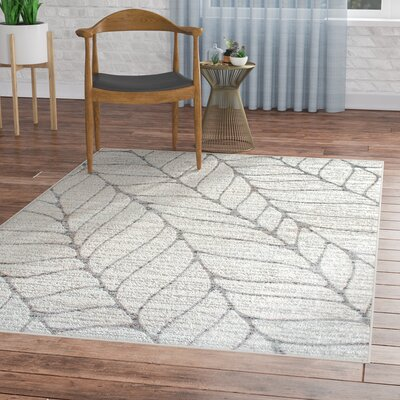 Sackett Light Gray Area Rug Rug Size: Rectangle 5 x 8