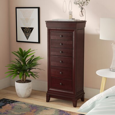 Nigel Free Standing Jewelry Armoire with Mirror