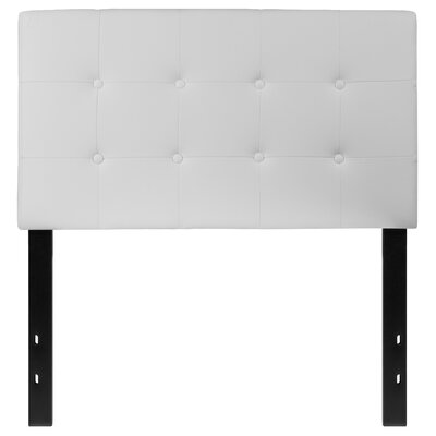 Fitzmaurice Tufted Upholstered Panel Headboard Size: Twin, Upholstery: White