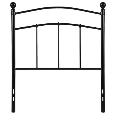 Milliner Woodstock Decorative Metal Open-Frame Headboard Size: Twin