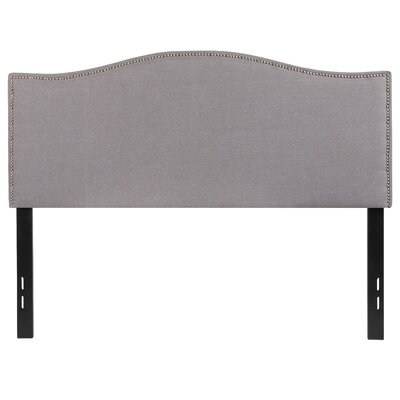 Fitzsimmons Upholstered Panel Headboard Size: Twin, Upholstery: Light Gray