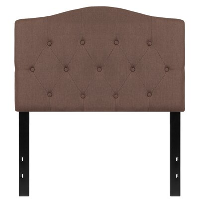 Fitz Cambridge Tufted Upholstered Panel Headboard Size: Twin, Upholstery: Camel