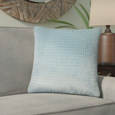 Karen Solid Throw Pillow Color: Light Blue